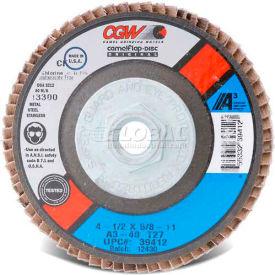 """CGW Abrasives 39254 Abrasive Flap Disc 4"""" x 3/8 - 24"""" 60 Grit Aluminum Oxide - Pkg Qty 10"""
