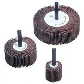 """CGW Abrasives 41004 Flap Wheel 3"""" x 1/4"""" x 1"""" 40 Grit Aluminum Oxide - Pkg Qty 10"""