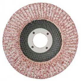 """CGW Abrasives 43101 Abrasive Flap Disc 4-1/2"""" x -- 36 Grit Aluminum - Pkg Qty 10"""