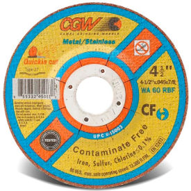"CGW Abrasives 45006 Cut-Off Wheel 5"" x 7/8"" 60 Grit Type 27 Aluminum Oxide - Pkg Qty 25"