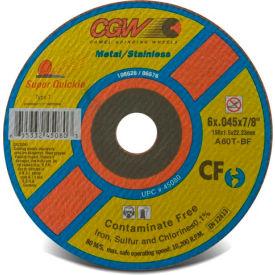 "CGW Abrasives 45042 Cut-Off Wheel 4-1/2"" x 7/8"" 60 Grit Type 1 Aluminum Oxide - Pkg Qty 50"