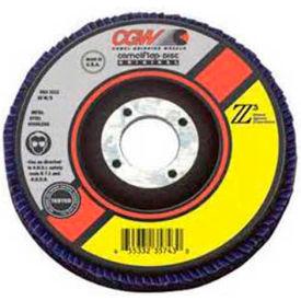 "CGW Abrasives 54024 Abrasive Flap Disc 4-1/2"" x 7/8"" 60 Grit Zirconia - Pkg Qty 10"