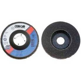 """CGW Abrasives 56036 Abrasive Flap Disc 7"""" x 7/8"""" 120 Grit Silicon Carbide - Pkg Qty 10"""