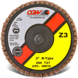 "CGW Abrasives 30014 Abrasive Quick Change 3"" TR 60 Grit Zirconia - Pkg Qty 10"