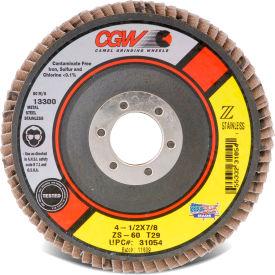 "CGW Abrasives 31015 Abrasive Flap Disc 4-1/2"" x 7/8"" 80 Grit Zirconia - Pkg Qty 10"