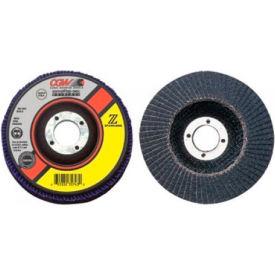 "CGW Abrasives 31231 Abrasive Flap Disc 4-1/2"" x 5/8 - 11"" 36 Grit Zirconia - Pkg Qty 10"
