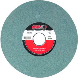 """CGW Abrasives 34682 Green Silicon Carbide Surface Grinding Wheels 8"""" 100 Grit Aluminum Oxide - Pkg Qty 10"""