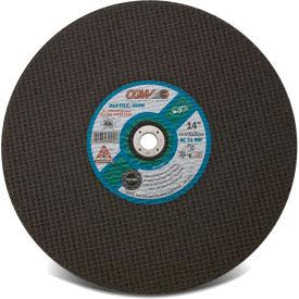 "CGW Abrasives 35602 Cut-Off Wheel 14"" x 1"" 24 Grit Type 1 Aluminum Oxide - Pkg Qty 10"