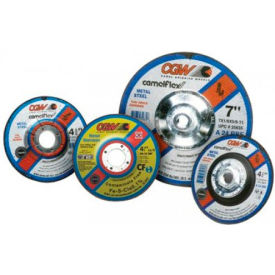 "CGW Abrasives 35616 Depressed Center Wheel 4-1/2"" x 1/8"" x 7/8"" Type 27 24 Grit Aluminum Oxide - Pkg Qty 25"