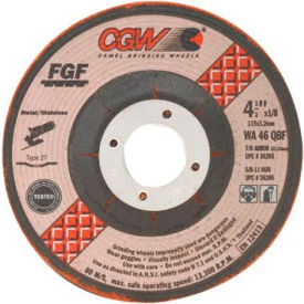 "CGW Abrasives 36274 Depressed Center Wheel 4-1/2"" x 1/8"" x 5/8- 11 INT T 29 60 Grit Aluminum Oxide - Pkg Qty 10"
