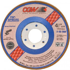 "CGW Abrasives 36277 Depressed Center Wheel 5"" x 1/8"" x 7/8"" Type 29 60 Grit Aluminum Oxide - Pkg Qty 25"