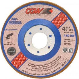 "CGW Abrasives 36282 Depressed Center Wheel 7"" x 1/8"" x 5/8- 11 INT Type 29 60 Grit Aluminum Oxide - Pkg Qty 10"