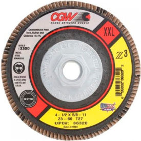 "CGW Abrasives 36317 Abrasive Flap Disc 4-1/2"" x 7/8"" 60 Grit Zirconia - Pkg Qty 10"