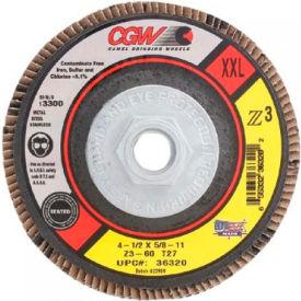 "CGW Abrasives 36326 Abrasive Flap Disc 4-1/2"" x 5/8 - 11"" 60 Grit Zirconia - Pkg Qty 10"