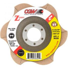 "CGW Abrasives 36334 Abrasive Flap Disc 5"" x 7/8"" 40 Grit Zirconia - Pkg Qty 10"