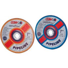 "CGW Abrasives 37670 Depressed Center Wheel 9"" x 1/8"" x 5/8- 11 INT T27 24 Grit Zirconia Alum. Oxide - Pkg Qty 10"