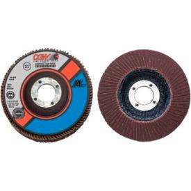 """CGW Abrasives 39405 Abrasive Flap Disc 4-1/2"""" x 7/8"""" 80 Grit Aluminum Oxide - Pkg Qty 10"""