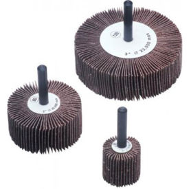 """CGW Abrasives 39989 Flap Wheel 2"""" x 1/4"""" x 1"""" 60 Grit Aluminum Oxide - Pkg Qty 10"""