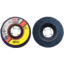 "CGW Abrasives 42132 Abrasive Flap Disc 4"" x 3/8 - 24"" 40 Grit Zirconia - Pkg Qty 10"