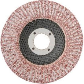 """CGW Abrasives 43081 Abrasive Flap Disc 4-1/2"""" 36 Grit Aluminum - Pkg Qty 10"""
