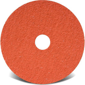 "CGW Abrasives 48184 Resin Fibre Disc 4-1/2"" DIA 50 Grit Ceramic - Pkg Qty 25"