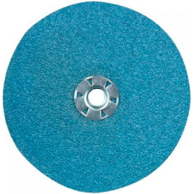 "CGW Abrasives 48230 Resin Fibre Disc 4"" DIA 16 Grit Zirconia - Pkg Qty 25"