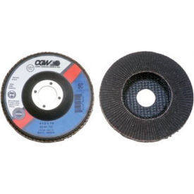 "CGW Abrasives 56024 Abrasive Flap Disc 4-1/2"" x 5/8 - 11"" 60 Grit Silicon Carbide - Pkg Qty 10"