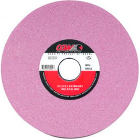 "CGW Abrasives 58025 Pink Surface Grinding Wheels 8"" 80 Grit Aluminum Oxide - Pkg Qty 10"