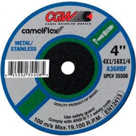 "CGW Abrasives 59107 Depressed Center Wheel 4"" x 1/32"" x 3/8"" 60 Grit Aluminum Oxide - Pkg Qty 50"