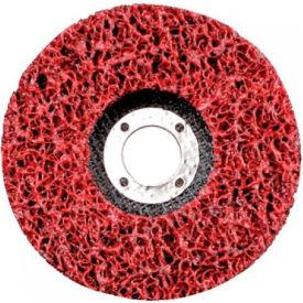 """CGW Abrasives 59204 Ez Strip Wheels, Non-Woven 4.5"""" Extra Course Silicon Carbide - Pkg Qty 10"""