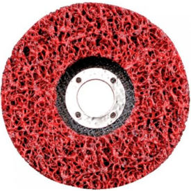 "CGW Abrasives 59205 Ez Strip Wheels, Non-Woven 4.5"" Extra Course Silicon Carbide - Pkg Qty 10"