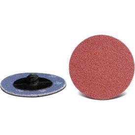 """CGW Abrasives 59525 Quick Change 2-Ply Discs, 2"""" 36 Grit Aluminum Oxide - Pkg Qty 50"""