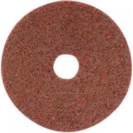 "CGW Abrasives 70035 Surface Conditioning Discs, Hook-Loop w/Arbor Hole 7"" Course Grit Alum Oxide - Pkg Qty 10"