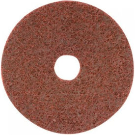 "CGW Abrasives 70037 Surface Conditioning Discs, Hook-Loop w/Arbor Hole 7"" VFine Grit Alum Oxide - Pkg Qty 10"