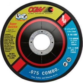 "CGW Abrasives 70095 Super-Quickie Cut&Trade; Cutting/Grinding Wheels 4-1/2"" 46 Grit Aluminum Oxide - Pkg Qty 10"