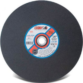 "CGW Abrasives 70106 Metal Cut-Off Wheel 16"" x 1"" Type 1 24 Grit Aluminium Oxide - Pkg Qty 10"