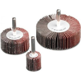 """CGW Abrasives 71042 Flap Wheel 1-1/2"""" x 1/4"""" x 1"""" 80 Grit Aluminum Oxide - Pkg Qty 10"""