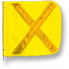 """Heavy Duty Flag, 16""""x16"""" Yellow w/ Yellow X"""