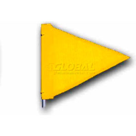 "Heavy Duty Flag, 12""x9"" Yellow"