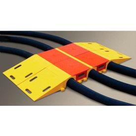 3.88 Height Diamondback UHB2025 Polyurethane Single Tunnel Modular Cable and Hose Bridge System for 3 Lines 34.75 Length 16 Width Yellow