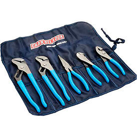 Channellock®  Tool Roll 3 5 Piece Plier Set (Long Nose, Slip Joint, Diagonal, Tongue & Groove)