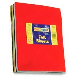 "Chenille Kraft® Felt Sheets, 9"" x 12"", Assorted Colors, 30/Box"