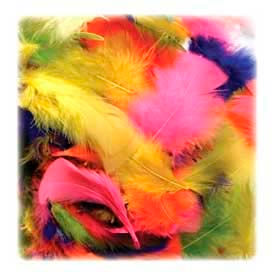 Chenille Kraft® Bright Hues Feather Assortment, 325 Pieces/Pack