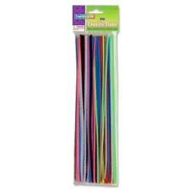 """Chenille Kraft® Regular Chenille Stems, 4mm x 12""""L, Assorted, 100 Pieces/Pack"""