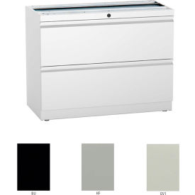 """Compatico CMW 30""""W 2 Drawer Supporting Lateral File - Black"""