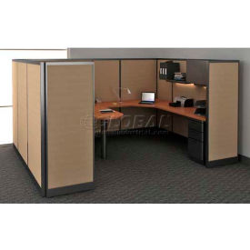 """Compatico CMW Manager Work Station w/ Electric 96""""W x 120""""D x 65""""H - Winter Birch Taupe"""