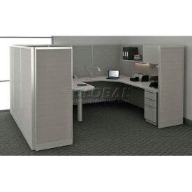 "Compatico CMW Manager Work Station w/ Electric 96""W x 120""D x 65""H - Metallic Silver"