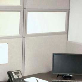 """Compatico CMW 12""""H x 36""""W PolyStax Frosted Glass Segment with Gray Frame"""