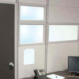"Compatico CMW 12""H x 48""W PolyStax Clear Glass Segment with Gray Frame"