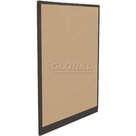 "Compatico CMW 65""H x 48""W Fabric Panel w/ Non-Powered Base - Winter Birch Taupe"